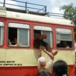Man Jumping in the Bus By Suneel Mistri