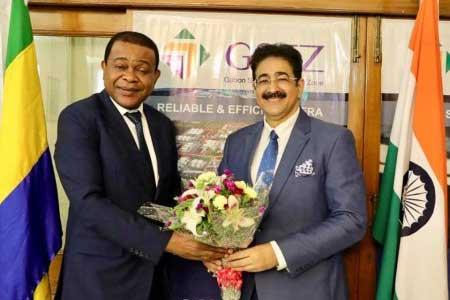 Gabon Congratulated Sandeep Marwah On Being Chancellor