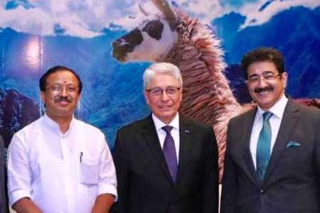 Sandeep Marwah Congratulated on National Day of Peru