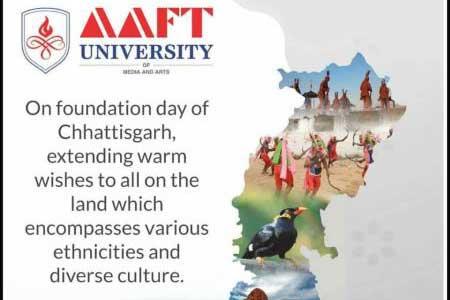 AAFT University Extends Warm Greetings to People of Chhattisgarh