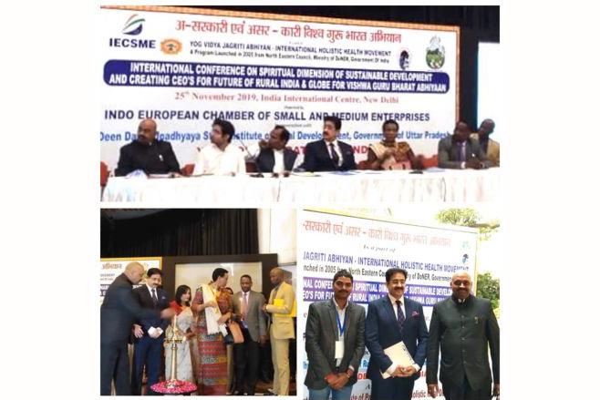 Sandeep Marwah Inaugurated International Conference on Spiritual Dimension of Sustainable Development